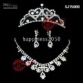 Christmas wedding Bridal Accessories/Bridal Jewelry Sets: earring,tiara,necklace SJT5009