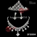 Accessories/Bridal Jewelry Sets: earring,tiara,necklace SJT5094 Christmas wedding Bridal