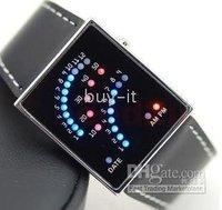 FREE SHIPPING,WHOLESALE +10pcs South Korea's super-popular 29LEDs watch / couple LED watch !