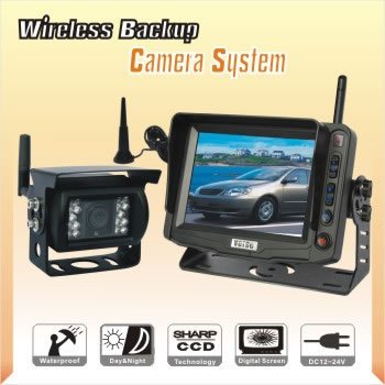 "DIGITAL BACK UP CAMERA SYSTEM 5"" WIRELESS REAR VIEW LCD"