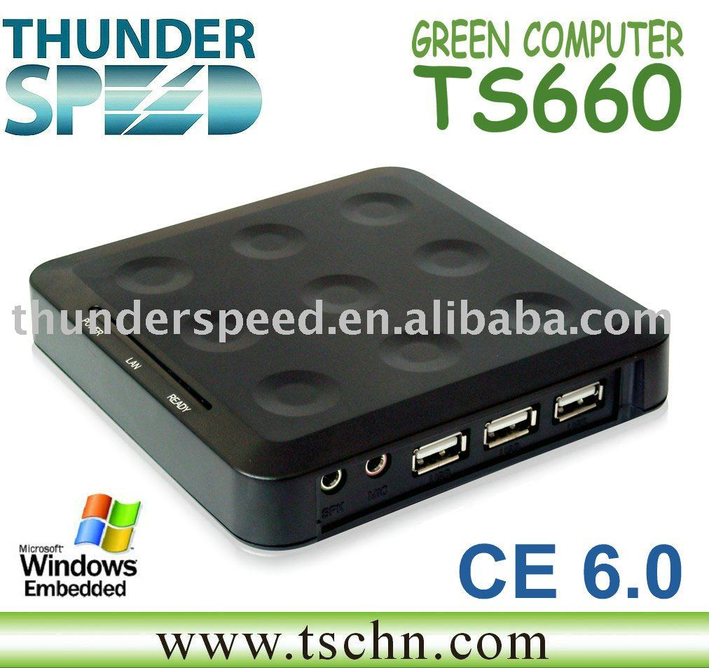 TS600 Win CE 5.0 Thin Client Net Computer PC Sharing PC Station Network Terminal Support Winows 7 /vista/Linux/xp