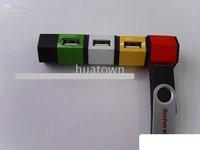 FREE SHIPPING,WHOLESALE +20pcs 20pcs/lot +Supply HUB USB, electronic gifts, plum-type HUB!!