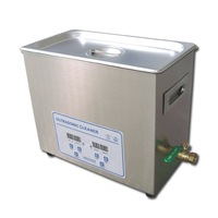 Free shipping-6.5L-digital ultrasonic cleaner -with drainage-fast delivery