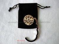 Free Shipping !!! fashion Leopard print handbag hanger come with velvet bag