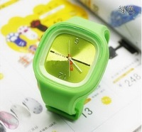 free shipping Women's Fashion Watches South Korea Silicone Bracelet jelly watch ODM Watch Watches 10pcs/lot