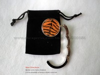 Free Shipping !!! fashion Tiger print purse hanger come with velvet bag-New Directions