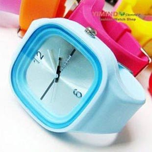 Promotion+Free Shipping (55pcs) New 100% silicone jelly watch with japan movement