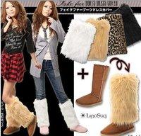 Fur leg sets,leg warmers boots accessories/Furs boots wrap many colors