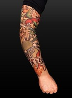 Free shipping tattoo sleeve fake temporary tattoo sock carnival Dionysia Halloween Chrismas party clothes 60pcs trial order
