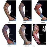 free shipping tattoo sleeve fake temporary tattoo sock carnival Dionysia Halloween Chrismas party celebration clothes wear