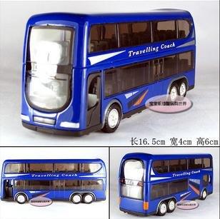 Grátis frete - atacado e retai o novo ônibus de dois andares na europa / liga de modelos de carros de brinquedo / presente de natal(China (Mainland))
