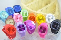 Free Shipping New 100% silicone jelly watch with japan movement Wristwatches