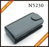 Free shipping --New high quality leather case cellphone for NOKIA  N5230