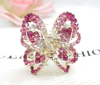 wholesale free shipping New arrival 18k alloy ladies rhinestone hair claw clip hair pins