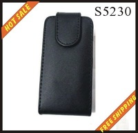 Free shipping --New high quality leather case cellphone for SUMSUNG  S5230
