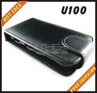 Free shipping --New high quality leather case cellphone for SONY Ericsson  U100