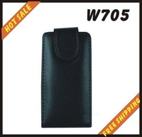 Free shipping --New high quality leather case cellphone for SONY Ericsson  W705