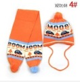New style cute  hot sale!children`s hat and scarf set win star sunny double thick children knitted setsHigh-quality