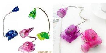 free shipping Mini electronic reading lamp desk lamp book clip small light LED lamp laser birthday christmas gift