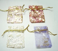 100 pcs Organza Jewelry Bag Gift Bag 3.5''X2.5'' W33 Mixed Color Free Shipping