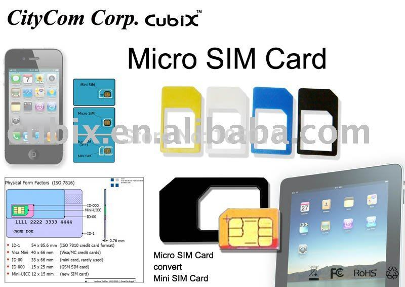 Free shipping 100pcs For SIM convert card - Micro SIM to Mini SIM adapter----white and black two colours(China (Mainland))