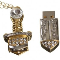 Low Price High Quality 16GB Treasured Sword Jewelry USB Flash Memory Drive Freeshipping