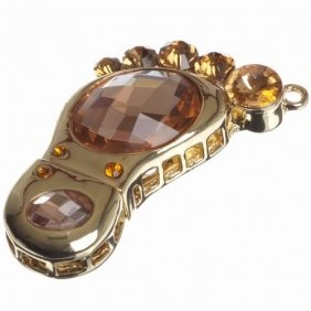 Fashionable 16GB Sole Jewelry USB Flash Memory Drive Stick Freeshipping