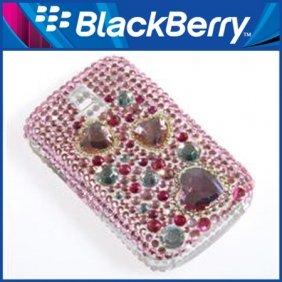 Hot sell free shipping Rhinestone Ornament Protective Hard Case Cover for BlackBerry 9000(China (Mainland))