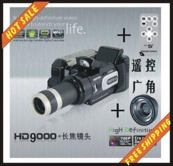 Free shipping--16MP POCKET super-thin 8X Digital Zoom HD9000 DV Digital Video Camera