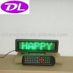scrolling moving message led desk board panel screen P6mm 7X35pixel DIP semi-outdoor green,free shipping to USA and Canada(China (Mainland))