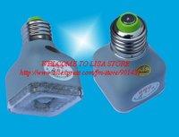 Free shipping, 5pcs/ lot. E27 2W 23-LED Infrared Sensor Motion Activated White Lamp (220~240V)