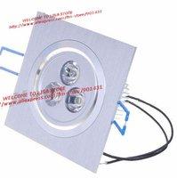 Free shipping, 5pcs/ lot.3W 3-LED 240-Lumen Warm White LED Ceiling Lamp/Down Light (100~265V)