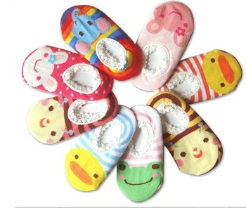 DHL/EMS Free Shipping 500pairs Cute! BUSHA Nonskid baby socks - Nonslip Toddler Footgear Baby Shoe Sock baby booties sox