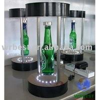 magnetic suspension bottle display, floating bottle display