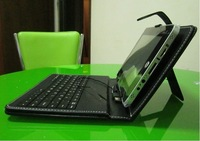 FreeShipping 7 inch tablet pc Protective leather Keyboard Case for tablet laptop