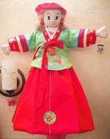 hanbok,Children Ceremonial traditional korean clothing,dresses-3108 5pcs,girl's birthday Korean