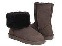 Hot sales classic short boots 5825 chocolate, Christmas&New Year's presents, Glamour Women Boots, quick shipping