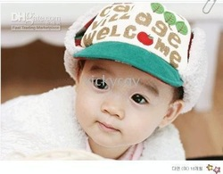 Lovely warm autumn and winter hat Apple qute hat-CDM1216 - Baby hats(China (Mainland))