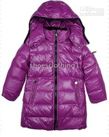 Wholesale children fashion winter feather down coat,free shipping