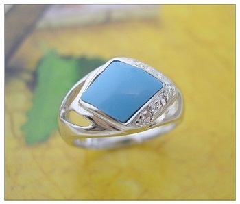 Turquoise silver  ring jewelry/retail/whoesale