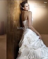 dress/Custom size NO.478 White strapless wedding dress/cooktail/evening dress/prom/party