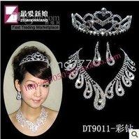 bridal necklace bridal supplies Bridal chain jewelry 3 sets DT9011 Diamond necklace set