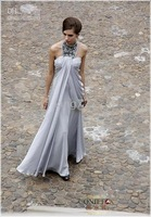 Christmas silver halter bridesmaid/ dress/bridal dress/gown/cooktail dress/S M L