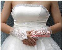 WHITE short net working gloves / Weeding accessories /bridal crown /weeding gloves