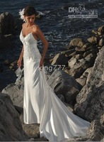 dress/bridal dress/evening dress/cooktail dress/Custom size NO.531 White/ivory beach wedding