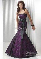 Mermaid Black/Fuchsia Lace Evening Prom Ball Gown Sash size : UK 6. 8 Christmas New Store