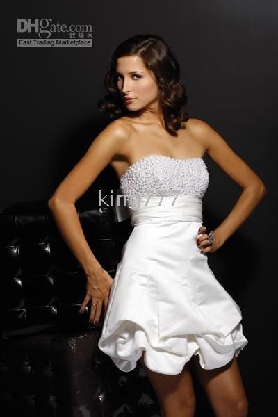 strapless mini skirt wedding dress bridal evening dress plus pregnant