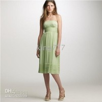 cloth material forging the latest bridesmaid dress 2010 Color gray green
