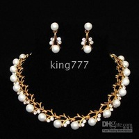 necklaces earrings #39 New style Simulated Diamond Jewelry Sets/Noble pearl