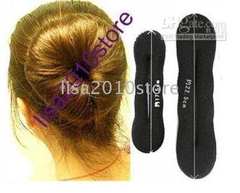 50X Large+50X Small 100 Pieces Sponge Bun Clip Maker Former Foam Twist Hair